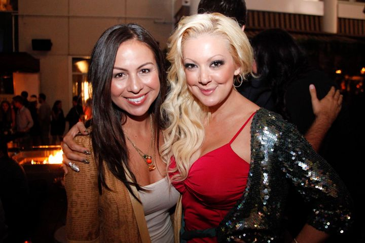 <p>Comedienne Anjelah Johnson with Katie Cazorla, who also does stand-up</p>