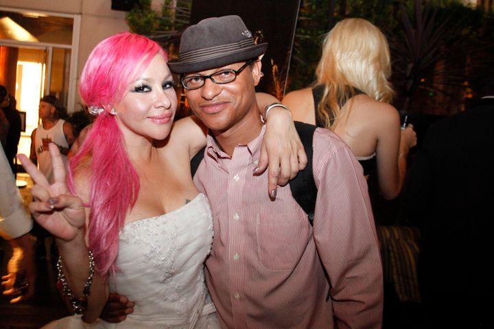 <p>Chichi Fiamengo with Clinton Wallace, executive producer at Photomundo Entertainment</p>