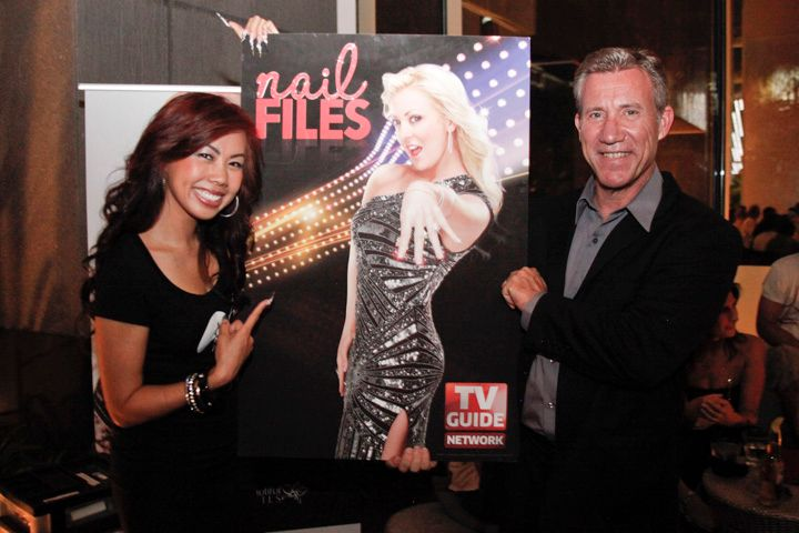 <p>Kupa's Sindy Mark and Richard Hurter promoting Katie's reality show Nail Files on TV Guide Network</p>