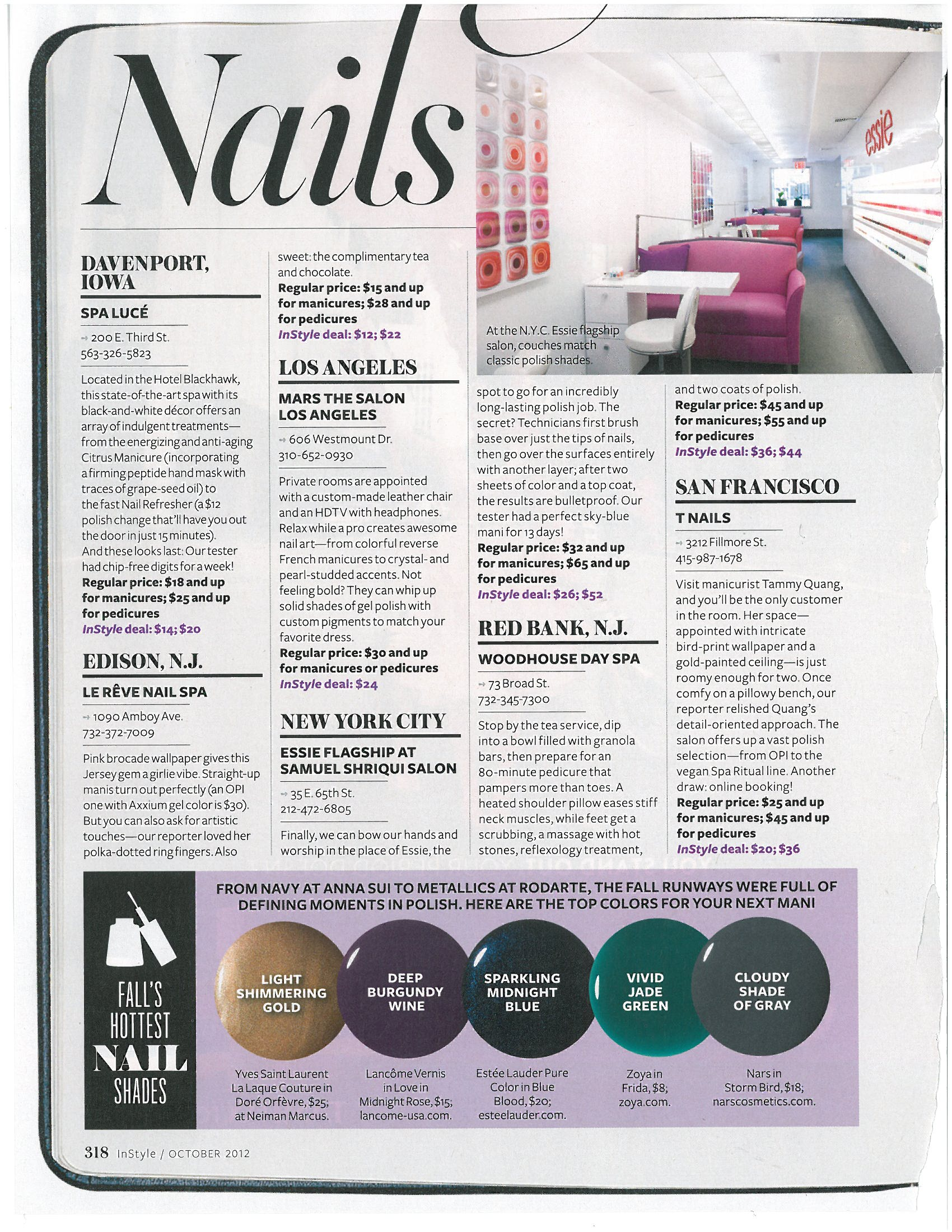 <i>InStyle</i> Names Six Notable Salons