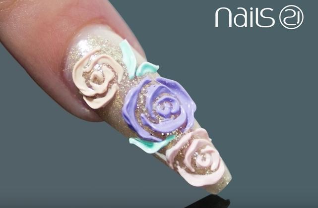 Emboss 3-D Roses Relevo Nail Art