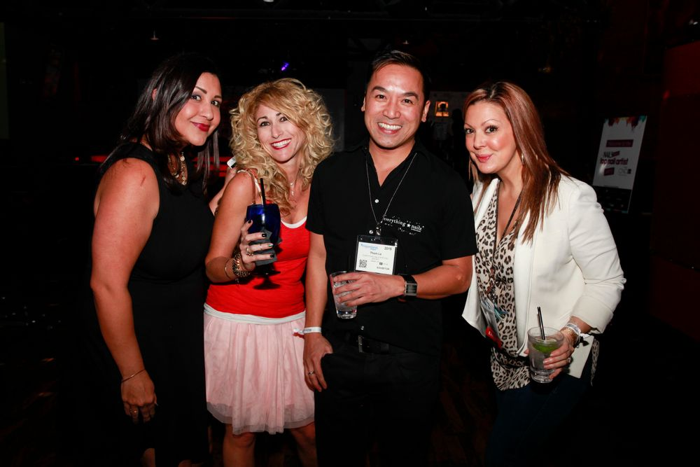 <p>NAILS' Carla Benavidez and Danielle Parisi with The Painted Nails' Thomas Le and Katie Cazorla</p>