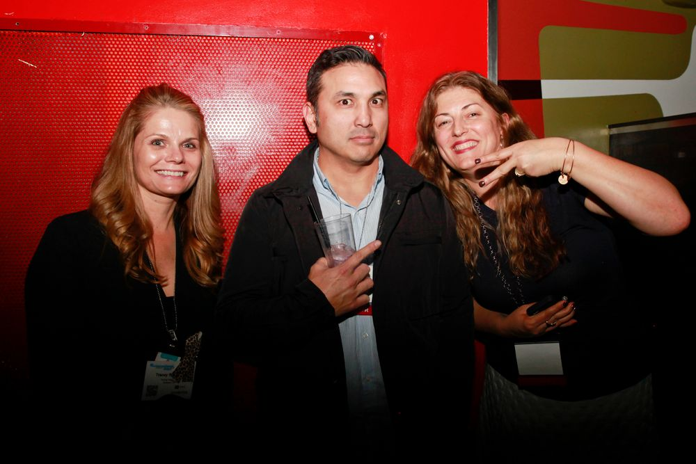 <p>Tracey and Habib from Young Nails with NAILS' Michelle Mullen</p>