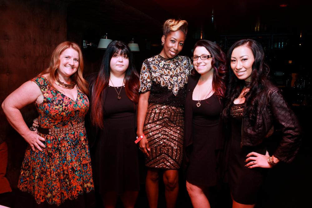 <p>NAILS' Hannah Lee, Lexi Martone, Lavette Cephus, Danielle Costantino and 2014 Next Top Nail Artist winner Ryoko Garcia</p>