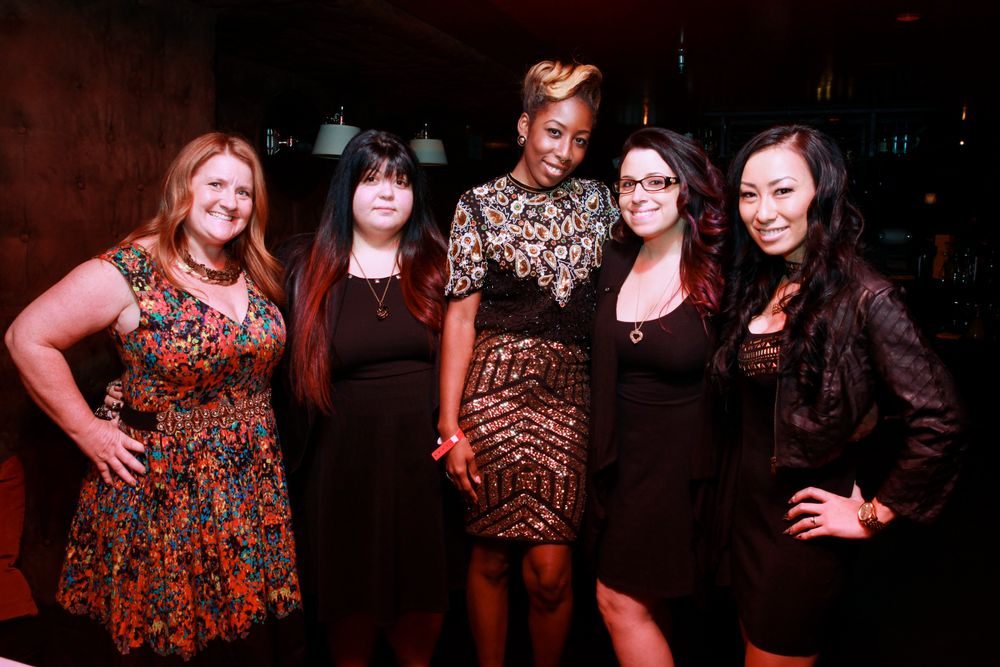 <p>NAILS' Hannah Lee, Lexi Martone, Lavette Cephus, Danielle Costantino and 2014 Next Top Nail Artist winner Ryoko Garcia</p>