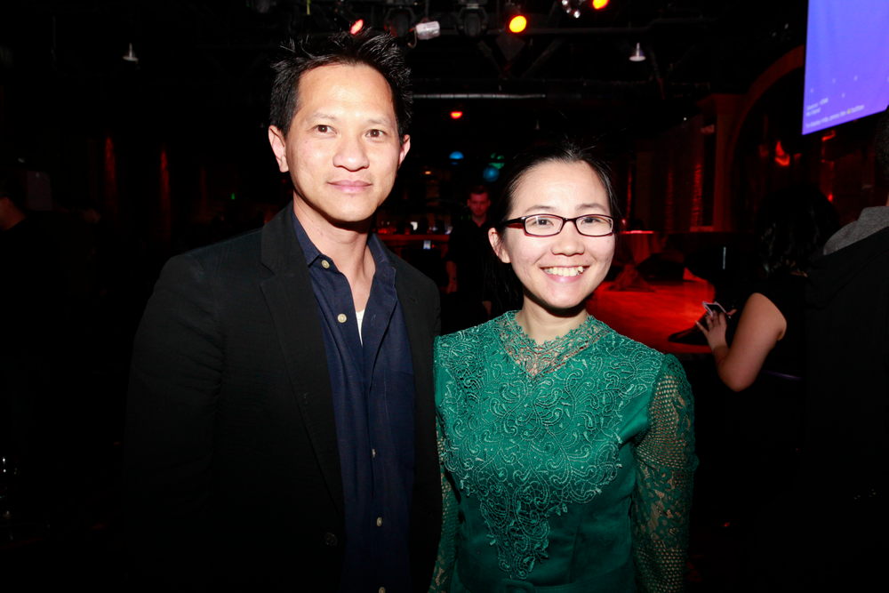 <p>ENT Channel 57.10 owner Huan Luyen and VietSALON's Anh Tran</p>