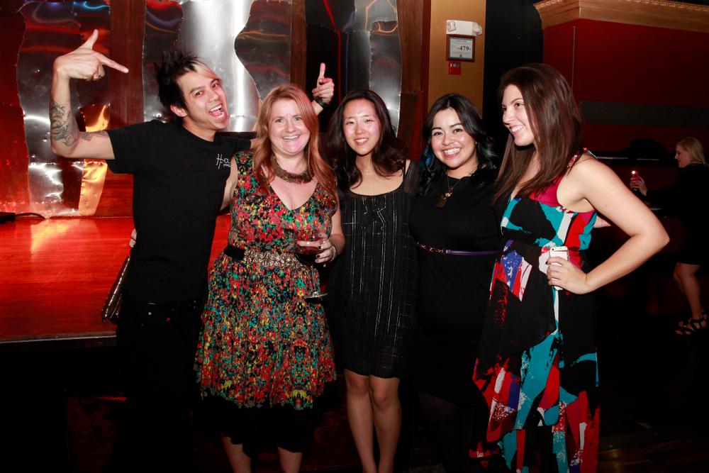 <p>NAILS ladies hanging with OPI's Robert Nguyen</p>