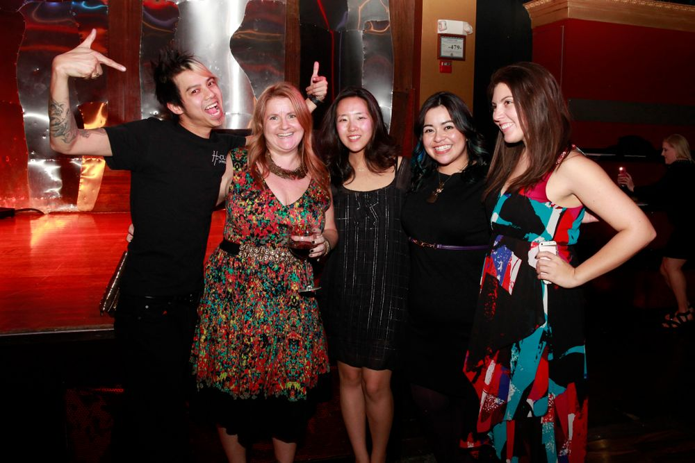 <p>NAILS ladies hanging with OPI's Robert Nguyen</p>