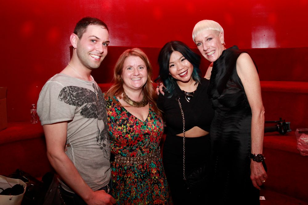 <p>Buddy Sims, Hannah Lee, Winnie Huang, and Jan Arnold</p>