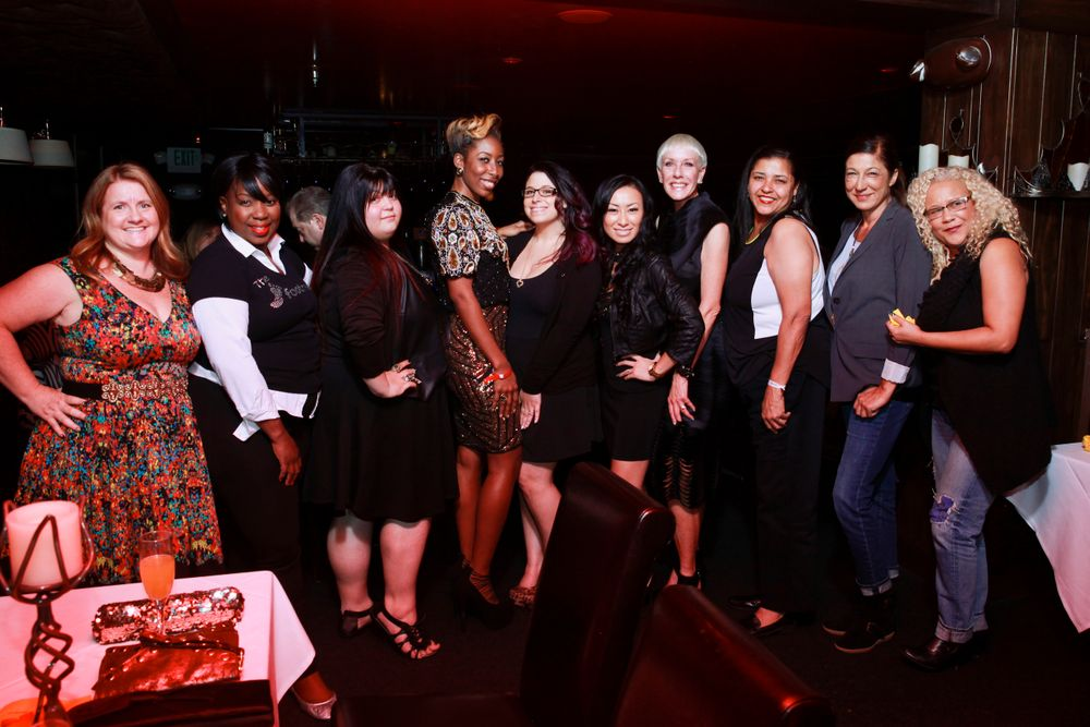 <p>Some of Hollywood's top editiorial nail techs came out to meet the Top 3</p>