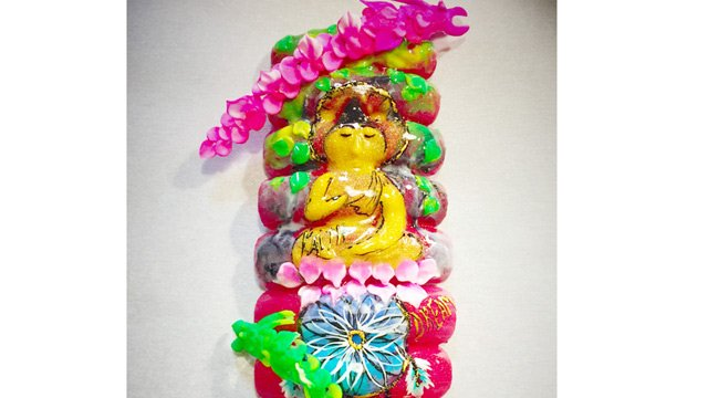 3-D Dragon Buddha Nails (NTNA S.3 Pre-Challenge #2)