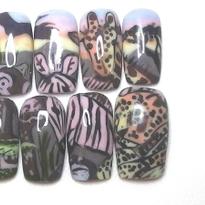 NTNA S. 6 Challenge 2: Extreme Color-Blocking Nail Art (Nixxi)