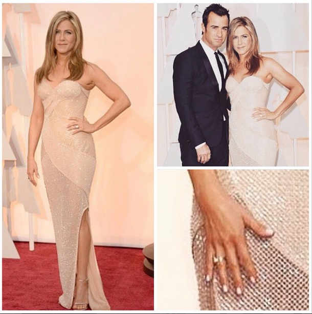 <p>Tom Bachik used a porcelain pink polish on Jennifer Aniston for the Oscars. Image via @tombachik</p>