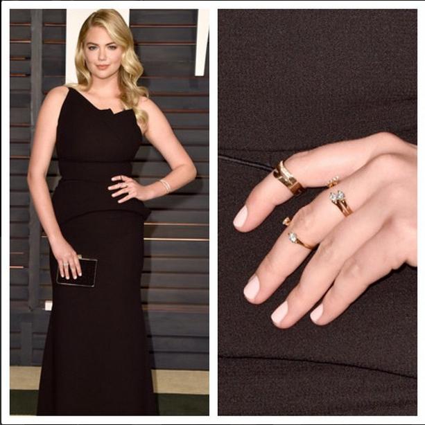 <p>Kate Upton wore Deborah Lippmann Shape of My Heart to the Vanity Fair Oscar Party. Celebrity manicurist Christina Aviles did her nails. Image via @christinaviles</p>