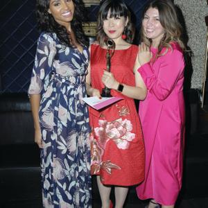 Actress Meagan Tandy, Daytime Beauty Award Winner Yoko Sakakura, and me.