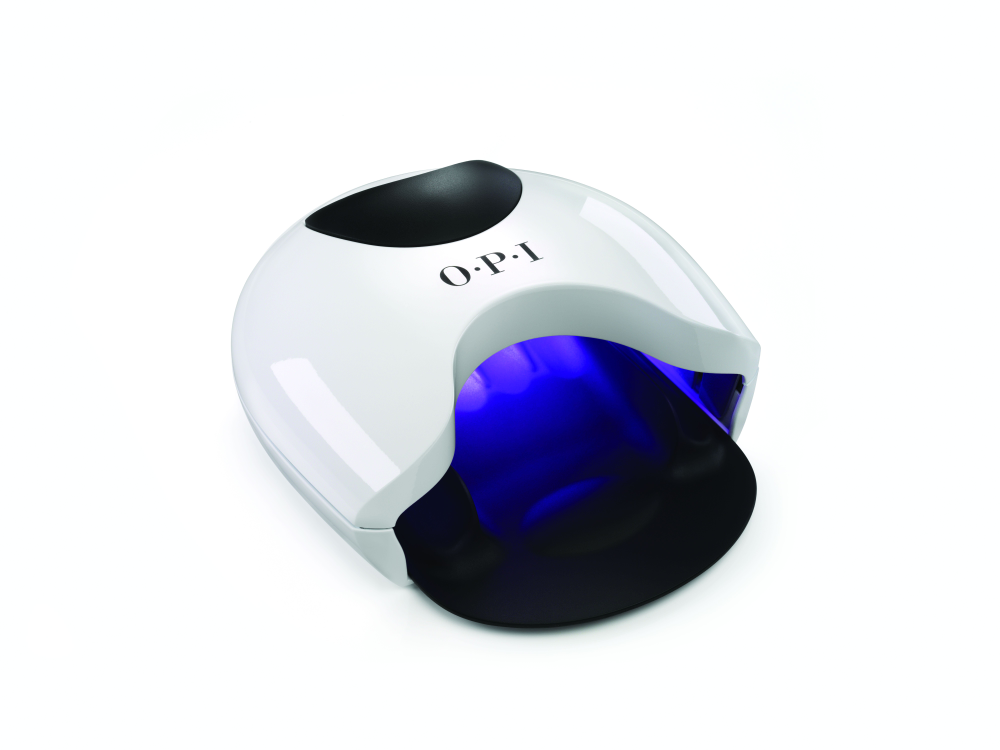 """<p><a href=""""http://opi.com/#EYZeZTTygew7olRV.97"""">OPI&rsquo;</a>s new Studio LED light effortlessly cures GelColor for a premium, long-lasting manicure. Housed in a sleek, white casing for the modern, upscale salon, finger separators are built-in to prevent color from smudging while curing.</p>"""