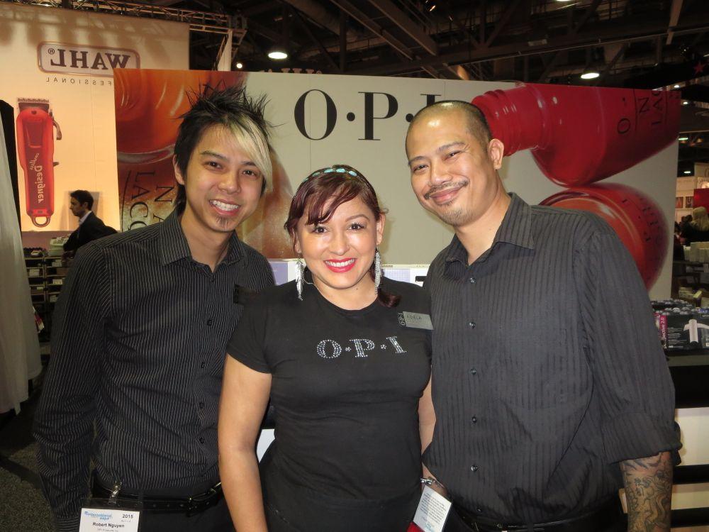 <p>OPI's Robert Nguyen, Adela Mu&ntilde;oz, and Vu Nguyen</p>