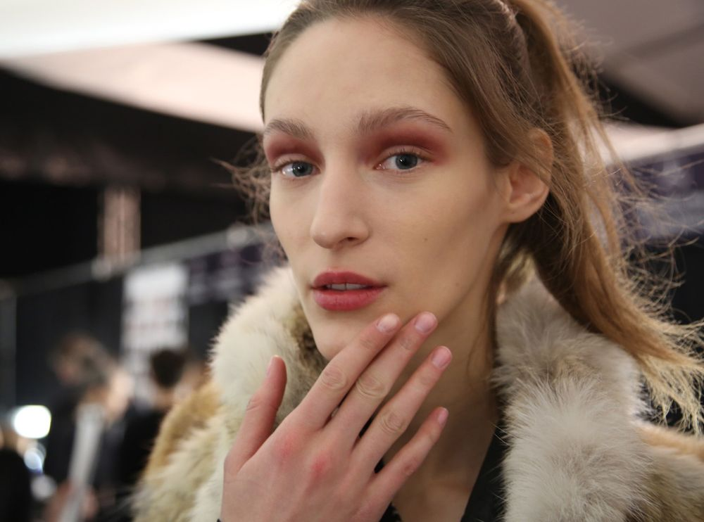 <p>OPI's Passion complemented the warm muted pastels at BCBGMAXAZRIA.</p>
