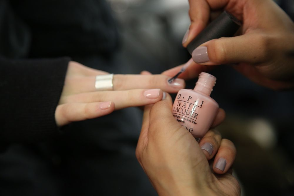 <p>OPI kicked off Fashion Week by polishing Passion onto models at the BCBGMAXAZRIA show. Photo courtesy of OPI.</p>