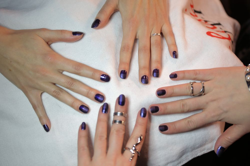 <p>The nails at OPI for Charlotte Ronson.</p>