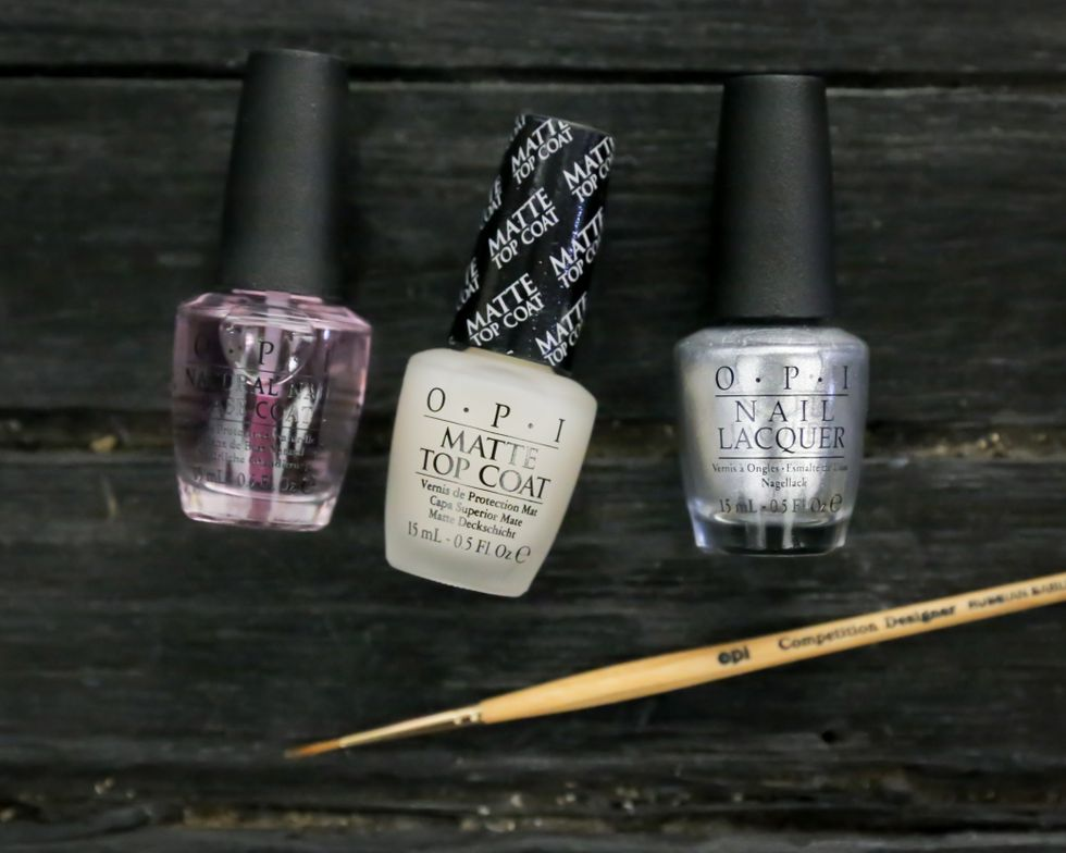<p>My Signature is DC, a lacquer created in partnership with Coca-Cola, picked up Dion Lee's metallic fabrics, while the contrast of sheer nail to silver complemented the collection&rsquo;s contrast of fabric textures and colors. Photo courtesy of OPI.</p>