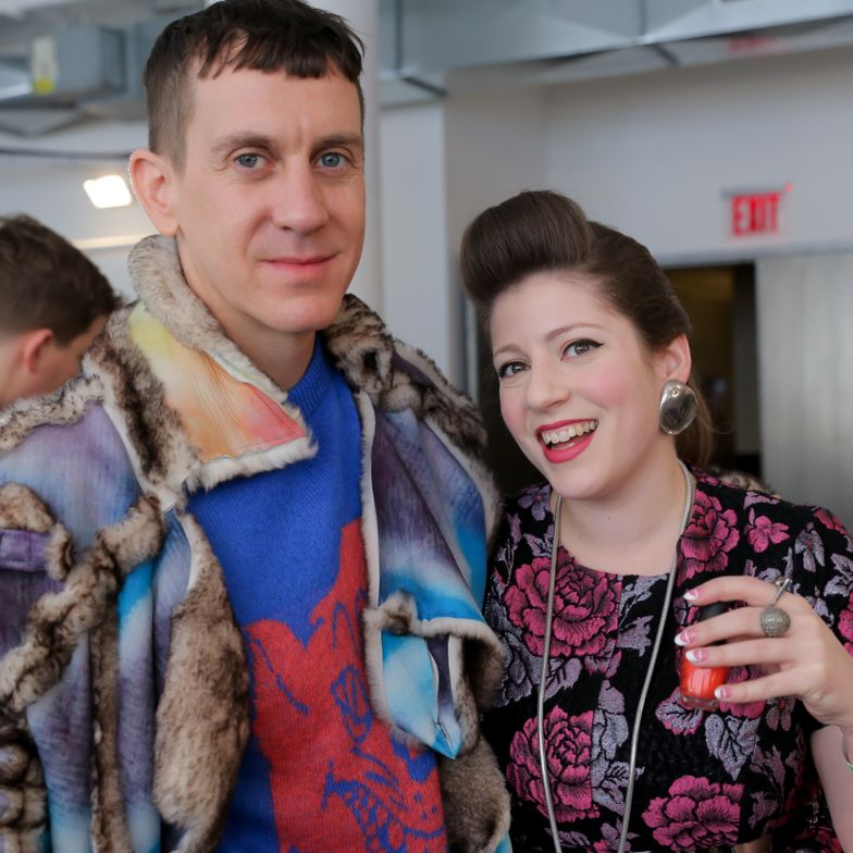 <p>Designer Jeremy Scott and OPI lead nail artist Miss Pop.</p>