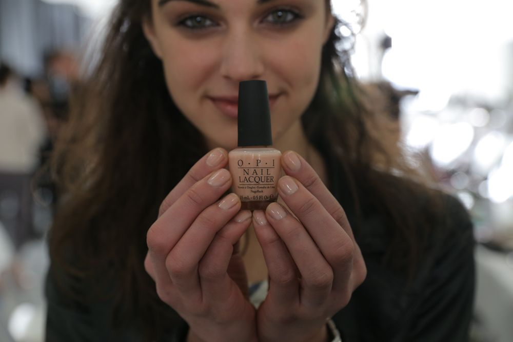 <p>Models at Joie wore OPI's Coney Island Cotton Candy on their nails. Image courtesy of OPI.</p>