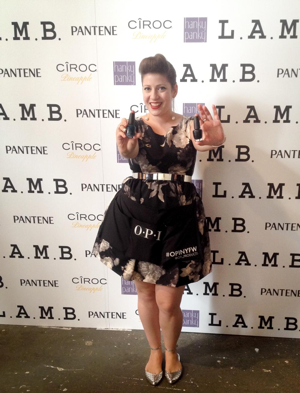 <p>Nail artist Miss Pop at OPI for L.A.M.B.&nbsp;Photo courtesy of OPI.&nbsp;</p>