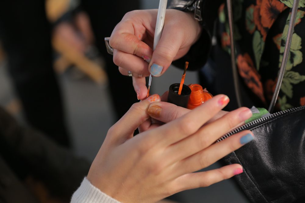 <p>Nails were prepped with one coat of Base Coat and finished with Matte Top.&nbsp;Photo courtesy of OPI.</p>