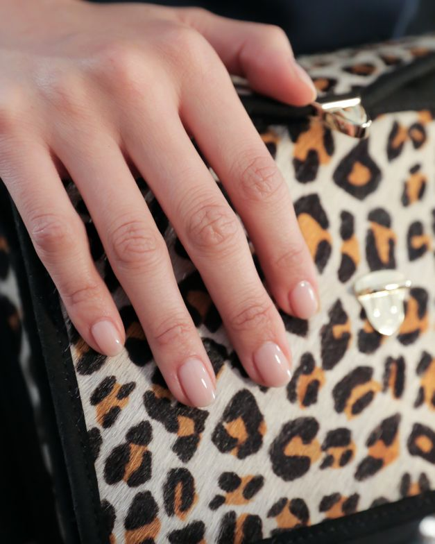 <p>Nails were lacquered with one coat of Base Coat, two coats of Bubble Bath, one of OPI&rsquo;s most popular colors, and sealed with Top Coat. Photo courtesy of OPI.</p>
