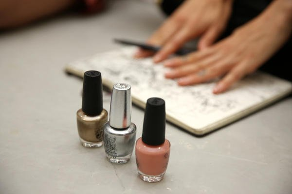 <p>OPI DS Radiance, Glitzerland, and A Great Opera-tunity were used at Rodarte.</p>