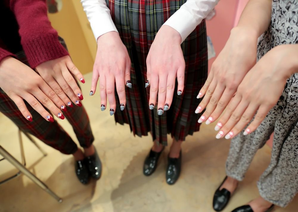 <p>A variety of nail art looks from OPI showed at Rachel Antonoff.</p>