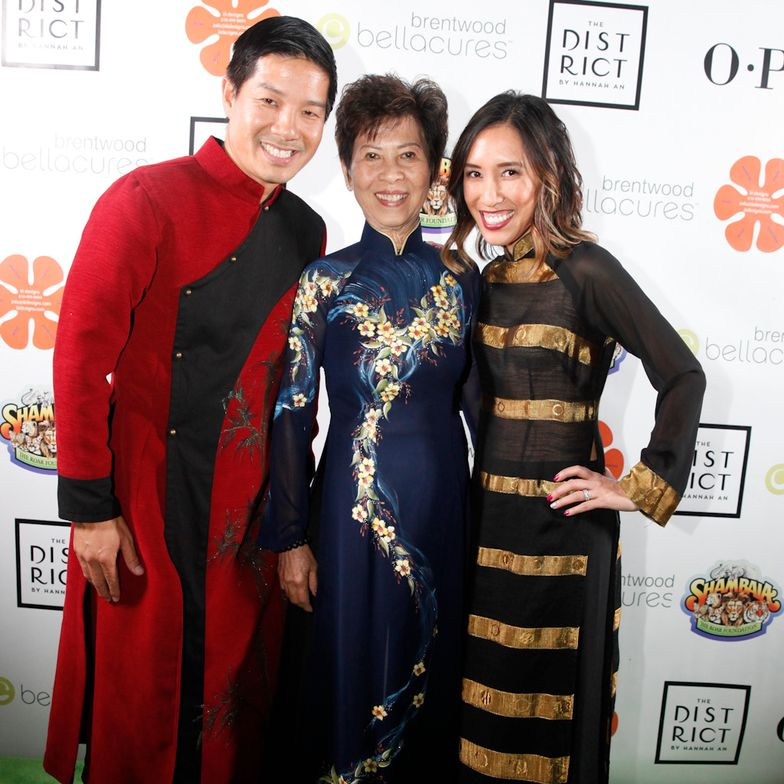 <p>Advance Beauty College co-owners Tam Nguyen and Linh Nguyen with their mother, Kien Tam Nguyen (center) who founded the beauty college.</p>