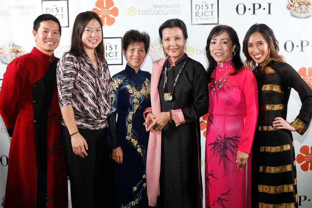 <p>Members of the Vietnamese nail industry celebrated in the event &mdash; Advance Beauty College owners Tam Nguyen (left) and Linh Nguyen (far right), NAILS and VietSALON senior editor Kim Pham, Advance Beauty College founder Kien Tam Nguyen, Vietnamese-American actress Kieu Chinh, and Thuan Le, one of the &ldquo;Original 20.&rdquo;</p>