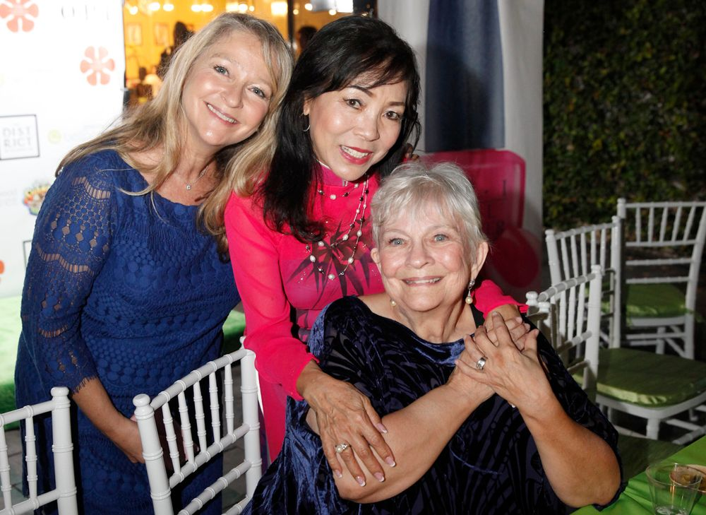 <p>Thuan Le (center) had not seen Dusty Butera (right) in 40 years since Butera taught Le how to do nails. They are joined by Butera's daughter, Robin Janashak, who was also in the nail industry for over 20 years.</p>