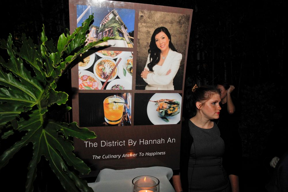 <p>The event was catered by The District by Hannah An.</p>