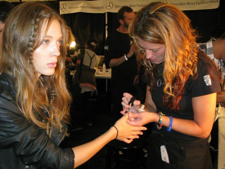 <p><strong>OPI</strong> Samoan Sand adorned nails and toes at the Charlotte Ronson show, where grunge inspirations met floral and sheer fabrics.</p>