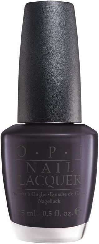 <p><strong>OPI</strong> nail lacquer in Suzi Skis in the Pyrenees is a deep, blue-grey hue.</p>
