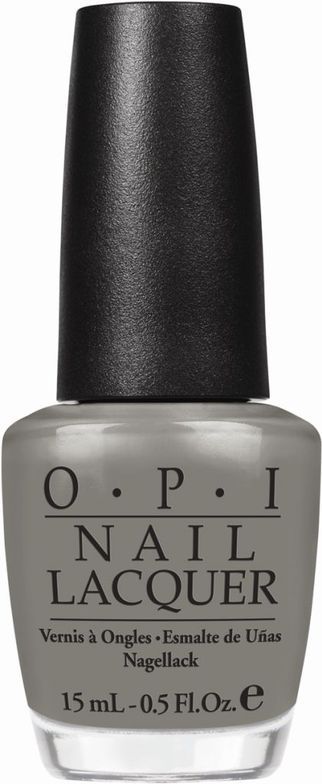 <p><strong>OPI</strong> nail lacquer in Suzi Takes the Wheel is a warm, true-grey hue.</p>