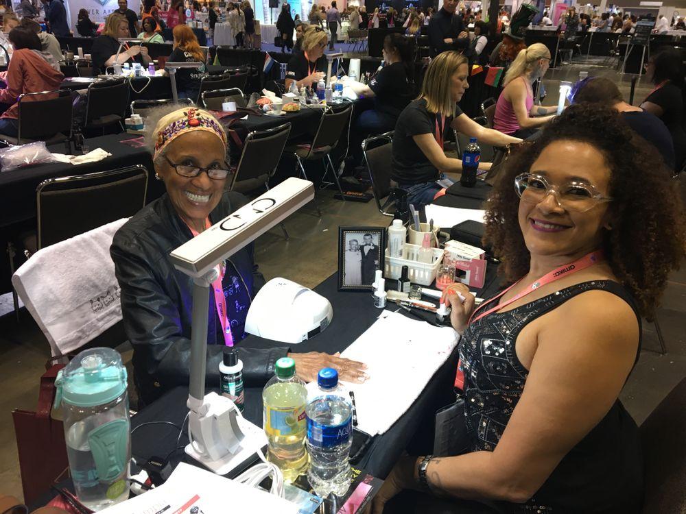 <p>Competitor Odette Guzman Fontanez working away</p>