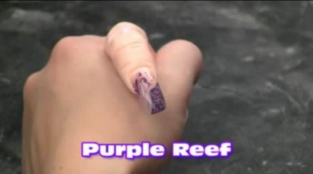 Purple Reef Gel Nail Art by GelArtNails.com