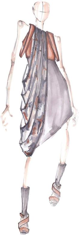 <p>Neutral <strong>Orchid Hush</strong>, a unique tone of gray with complex orchid undertones, blends well with any other color in the palette. <em>Illustration by Victoria Bartlett. Originally appeared in The Pantone Fashion Color Report Fall 2011.</em></p>