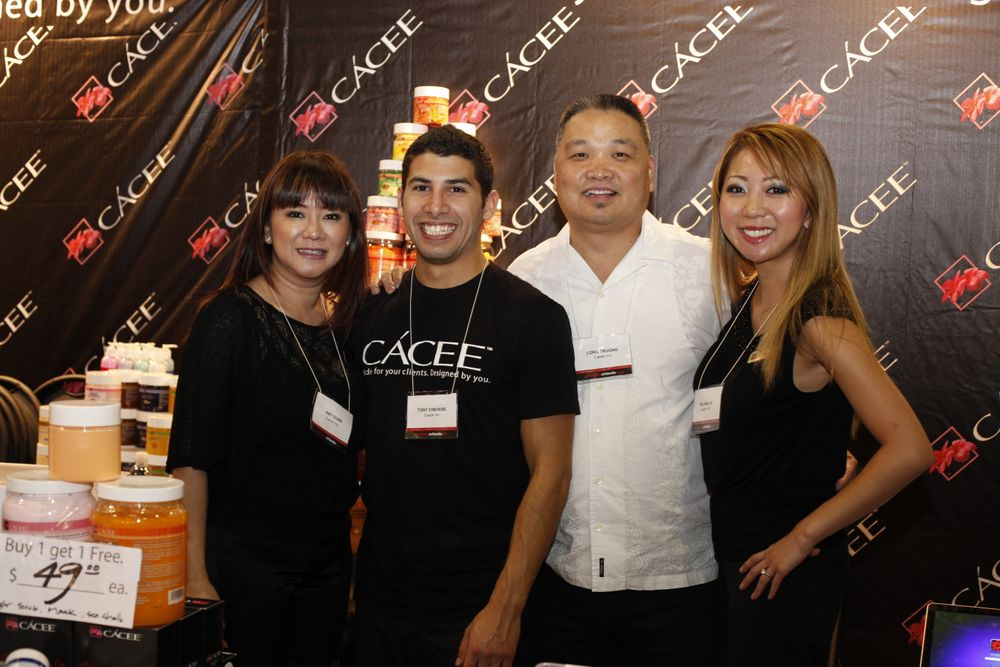 <p>Amy Duong, Tony Chevere, Melanie Le, and Long Truong promoted new Cacee Gel Polish colors.</p>