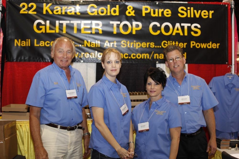 <p>Real Gold Inc.'s Bill Crowley, Brooke Gilliam, Pam and Jamie Quick promoted their new Real Gold 22-karat gold and pure silver products.</p>