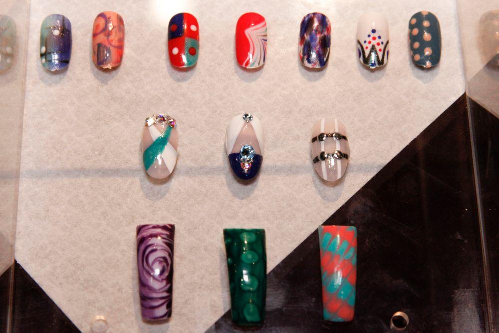<p>Nail art by Melissa Guyer, Essie educator</p>