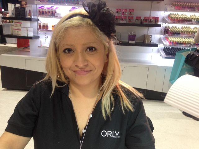 <p>Roxy Carillo rocked the Orly demos.</p>