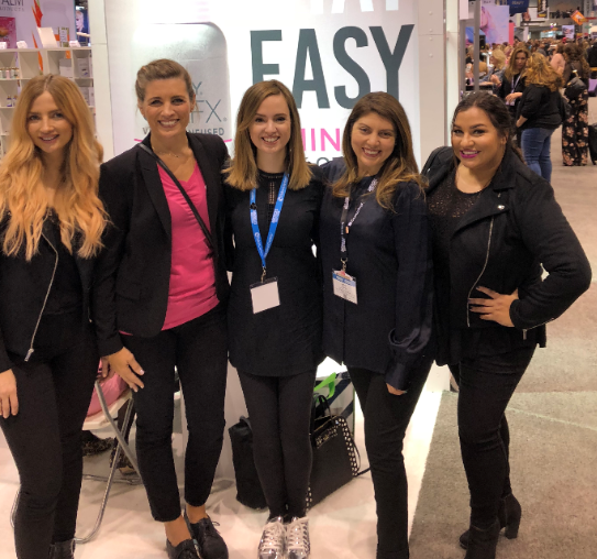<p>The Orly booth brought together the NAILS, Modern Salon, and Prevana teams.</p>