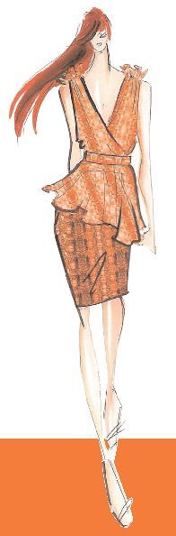 <p>Spicy, gregarious, and persuasive describe <strong>Coral Rose</strong>, a sophisticated orange that conjures up feelings of faraway <br />lands and locales.<br />Illustration by Christian Siriano. Originally appeared in The Pantone Fashion Color Report Spring 2011.</p>