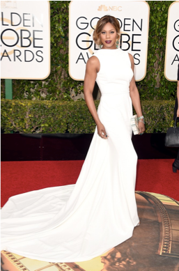 <p>Golden Globe nominee Laverne Cox wore Caption Polish This Old Thing and Create Change. Manicure by Jolene Brodeur.</p>