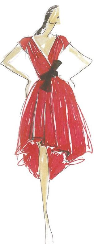 <p><strong>Poppy Red</strong> is a seductive, sensual and celebratory shade. <em>Illustration by Carmen Marc Valvo. Originally appeared in The Pantone Fashion Color Report Spring 2013.</em></p>